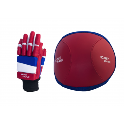 PACK GLOVES AND KNEE PAD HOCKEYPLAYER ECO