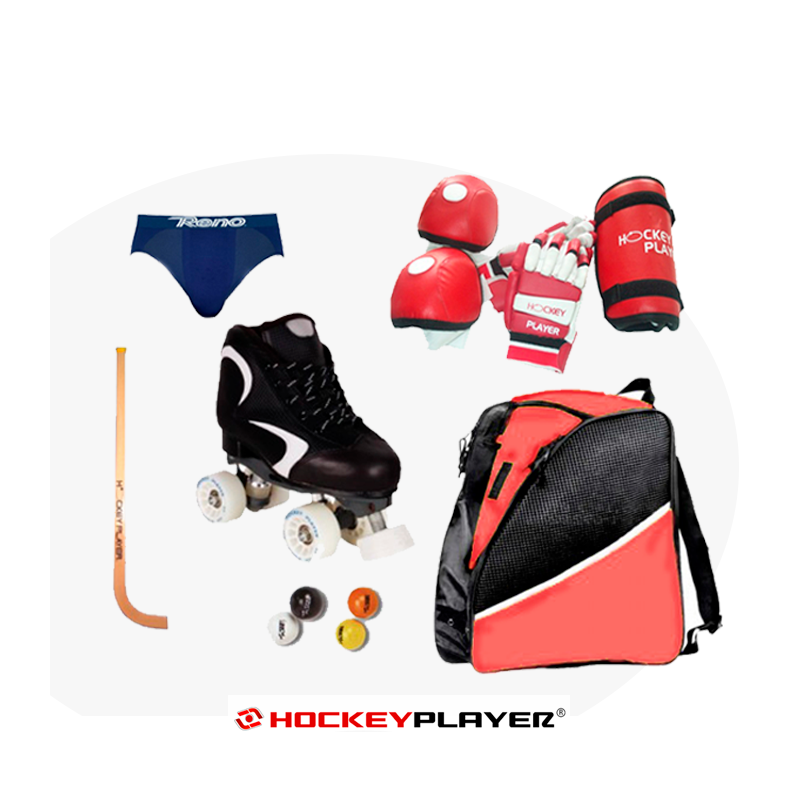 SET INICIACIÓN HOCKEY COMPLETO DE JUGADOR MINOR