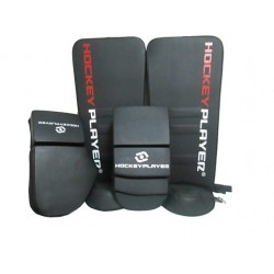 PACK GUARDAS Y GUANTES DE PORTERO HOCKEYPLAYER PLUMA
