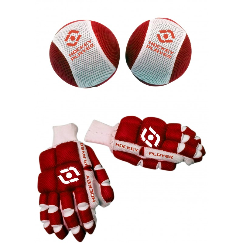 PACK GUANTES Y RODILLERAS HOCKEYPLAYER FABRIC